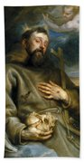 Saint Francis Of Assisi In Ecstasy Beach Towel