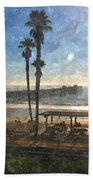 San Clemente Pier Beach Towel