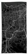 San Francisco California Usa Dark Map Beach Towel