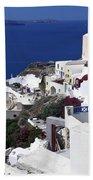 Santorini Overview Beach Towel