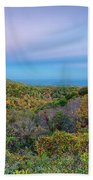 Scenic Blue Ridge Parkway Appalachians Smoky Mountains Autumn La Beach Towel