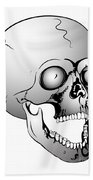 Screaming Skull Beach Towel