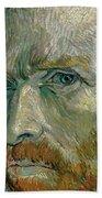 Self-portrait Beach Towel by Vincent Van Gogh