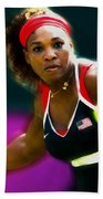 Serena Williams Eye On The Prize Beach Towel