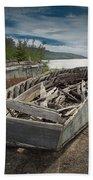 Shipwreck At Neys Provincial Park Beach Towel