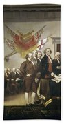 Signing The Declaration Of Independence Beach Towel