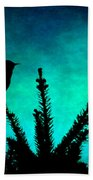 Silhouette Blues Beach Towel