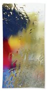 Silhouette In The Rain Beach Towel by Carlos Caetano