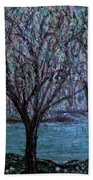Single Tree On The Grand River Beach Towel