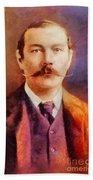 Sir Arthur Conan Doyle, Literary Legend Beach Towel