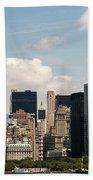 Skyline Of New York City - Lower Manhattan Beach Towel