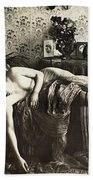 Sleeping Woman, C1900 Beach Towel
