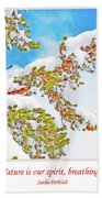 Snow-covered Conifer Beach Towel