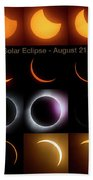 Solar Eclipse - August 21 2017 Beach Towel