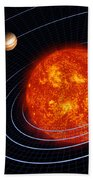 Solar System Beach Towel by Stocktrek Images