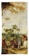 Soldiers Bivouacking Beach Towel