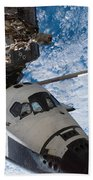 Space Shuttle Endeavour, Docked Beach Towel