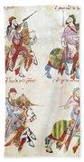 Spain: Knights, C1350 Beach Towel