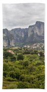 Spectacular Meteora Rock Formations Beach Towel