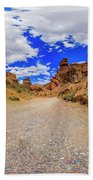 Spherical Panorama From A Canyon Charyn Beach Towel