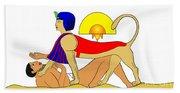Sphinx And Failed Puzzler Beach Towel
