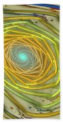 Spiral Rainbow Beach Towel