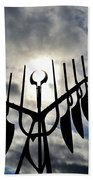 Spirit Catcher Against The Sky  Beach Towel