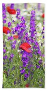 Spring Meadow With Wild Flowers Beach Towel