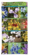 Spring Wildflowers II Beach Towel