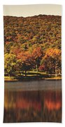 Squantz Pond In Autumn Beach Towel