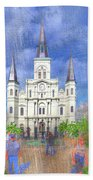 St Louis Cathedral  Beach Sheet