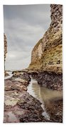 Stack And Chalk Cliff Beach Towel