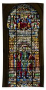 Stained Glass - Cathedral Of Seville - Seville Spain Beach Towel