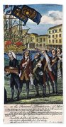 Stamp Act: Repeal, 1766 Beach Towel
