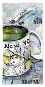 Starbucks Mug New York Beach Towel