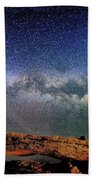 Starry Night Over Mesa Arch Beach Towel