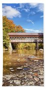 State Road Covered Bridge Beach Towel