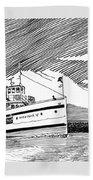 Steamship Virginia V Beach Towel