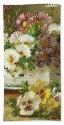 Still Life Of Flowers Beach Towel