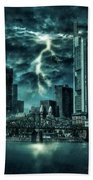 Storm Over Frankfurt Beach Towel