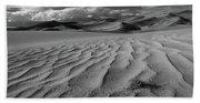 Storm Over Sand Dunes Beach Towel