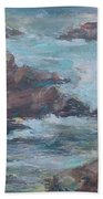Stormy Sea Seascape Beach Towel