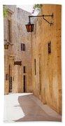Street Sceane Mdina,malta Beach Towel