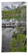 String Lake Reflection Beach Towel