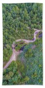 Summer Time Lake And Green Forest, In Poland Lanscape. Beach Towel