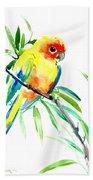 Sun Parakeet Beach Towel