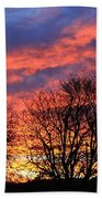 Sunset And Filigree Beach Towel