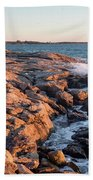 Sunset At Ocean Point, East Boothbay, Maine  -230204 Beach Towel