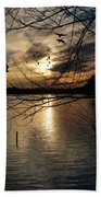 Sunset At The Lake Beach Towel