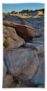 Sunset Comes To Valley Of Fire Beach Towel